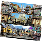 Town Terrain Backdrops x6