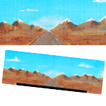 Dirt Road Backdrop (Painted) #001 PDF