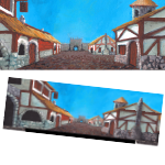 Small Town Backdrop (Painted) #001 PDF